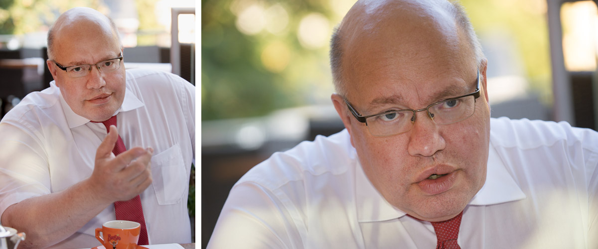 Pressefotografie Minister Peter Altmaier Interview Reutlinger General-Anzeiger