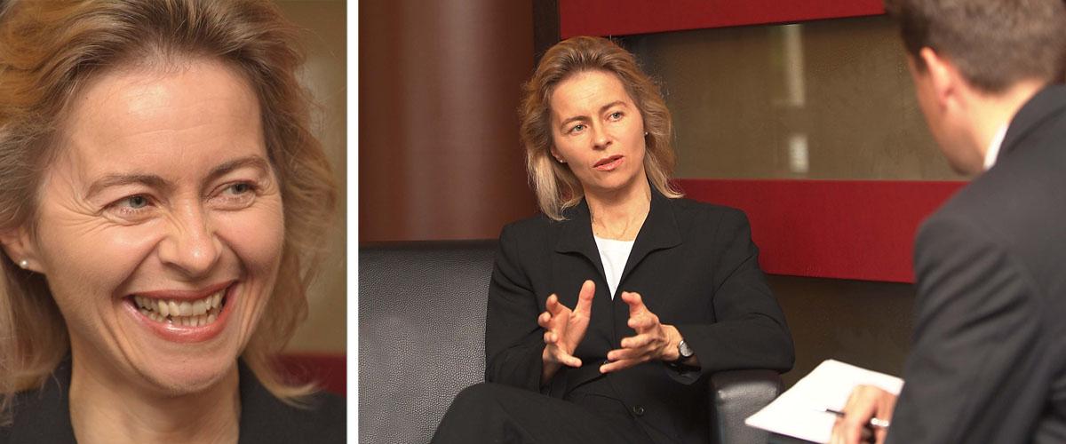 Pressefotografie Ministerin Ursula von der Leyen Interview Reutlinger General-Anzeiger